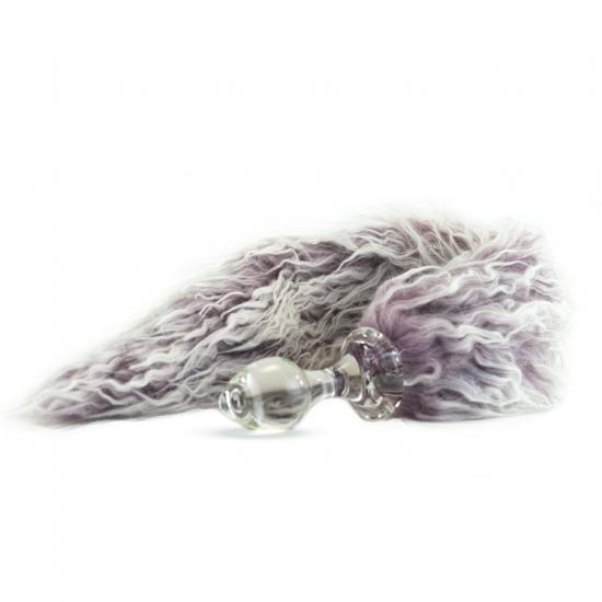 Faux fur tail Purple Frost