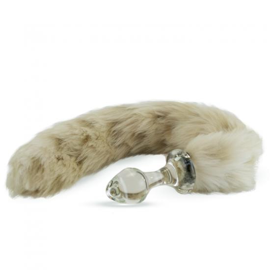 Faux fur tail Snow Leopard