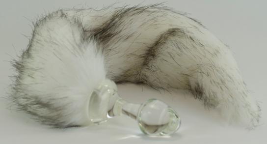 Siberian Husky Faux fur butt plug