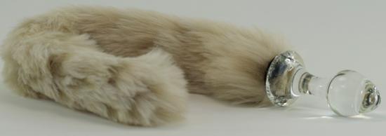 Snow Leopard faux fur tail