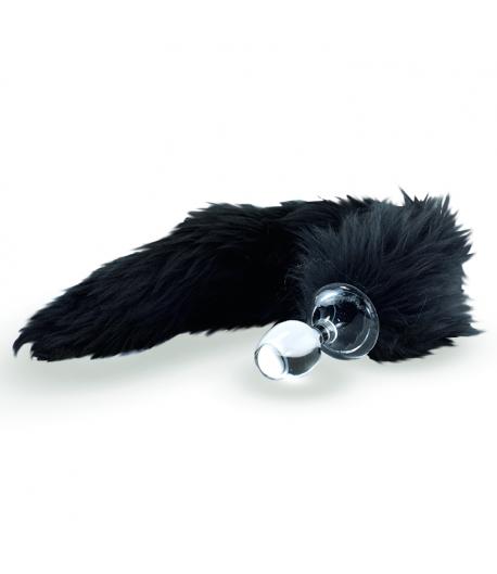 Black Faux Fur Tail