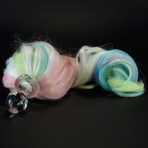 5 color pastel pony tail butt plug