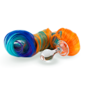 5 color primary pony tail butt plug