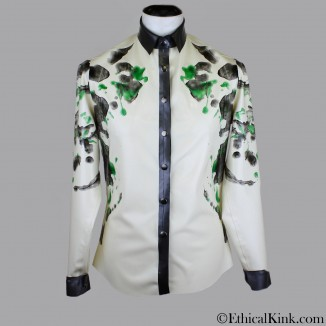 Two tone latex shirt