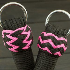 Black & Pink Paracord Flogger - Large Knots