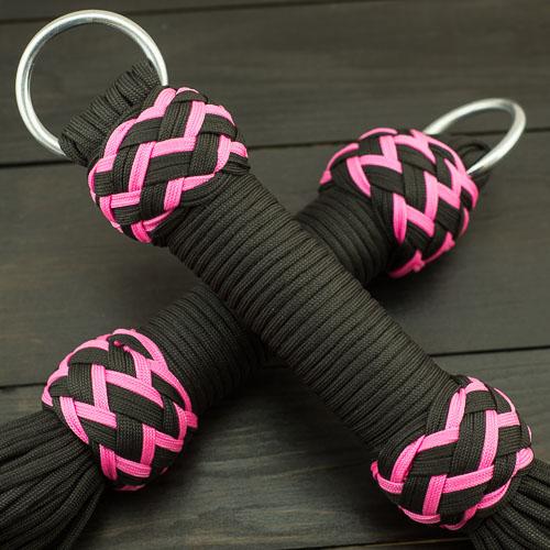 Black & Pink Paracord Flogger – Large Knots
