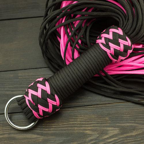 Black & Pink Paracord Flogger – Large