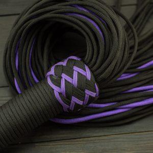 Black & Purple Paracord Flogger - Large