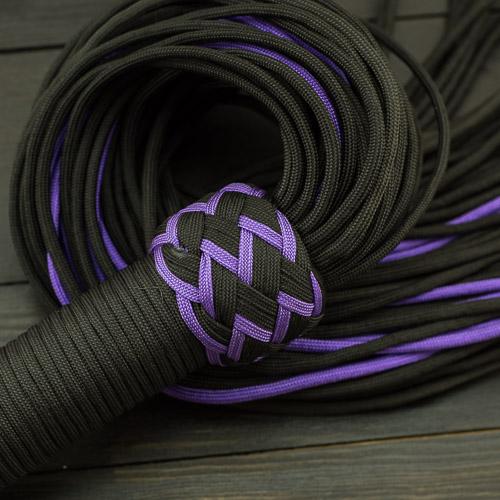 Black & Purple Paracord Flogger – Large