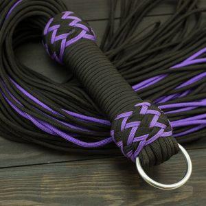 Black & Purple Vegan Paracord Flogger - Small
