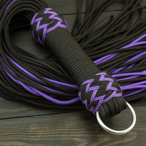 Black & Purple Vegan Paracord Flogger – Small