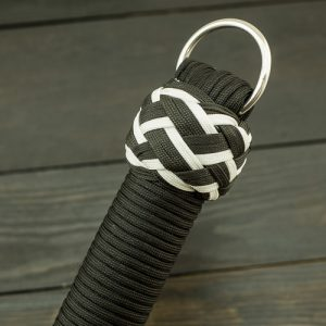 Black & White Vegan Paracord Flogger - Small