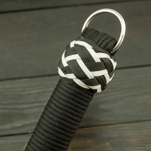 Black & White Vegan Paracord Flogger – Small
