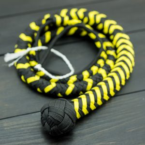 Black and Yellow Vegan Single Tail Whip - New Products