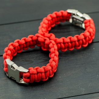 Red Sexy Handcuff kit with Metal Buckle