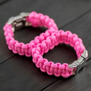Pink Sexy Handcuffs with Metal Buckle