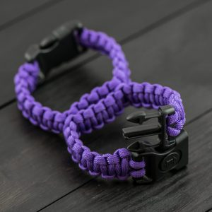 Purple Sexy Handcuffs with Plastic Buckle