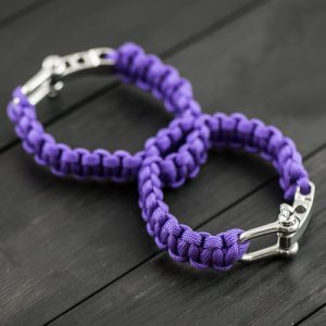 Purple Sexy Handcuffs with Shackle Buckle